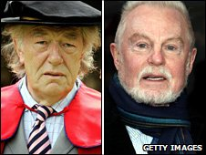 Michael Gambon and Sir Derek Jacobi