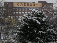 Cadbury factory in Bournville, Birmingham