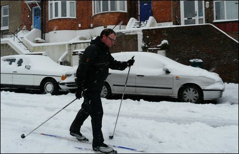 Phil Burston skiing in Brighton