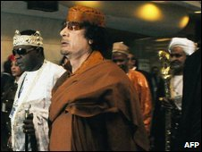Col Gaddafi in Addis Ababa, 1 February