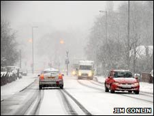 Picture of driving conditions in coatbridge
