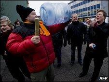 Protesters in Reykjavik, 26/01