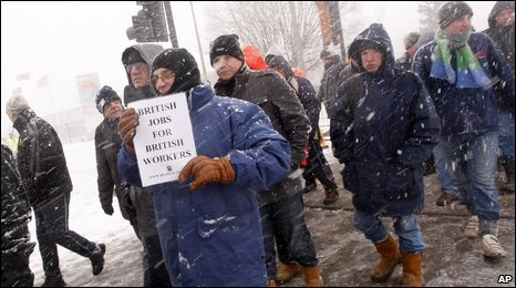 Protests at Lindsey oil refinery