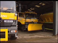 Gritting lorries