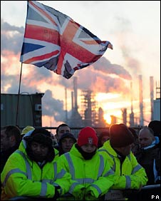 Lindsey Oil Refinery protest