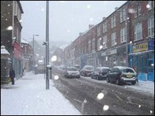 Maesteg in the snow