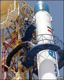 Iran's Safir rocket in August 2008