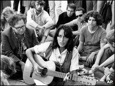 Folk singer Joan Baez
