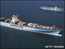 'Emma Maersk' container ship