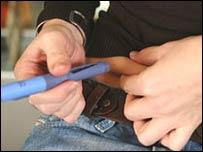 Inyección de insulina