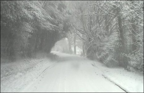 were also beautiful wintry conditions in The New Forest, Hampshire