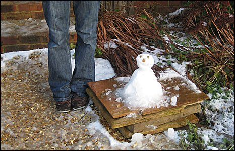 A snowman on the Isle of Wight - pic Victoria Coles