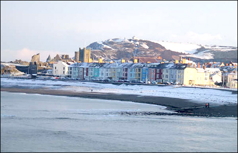 Traeth Aberystwyth gan Catrin Arthur