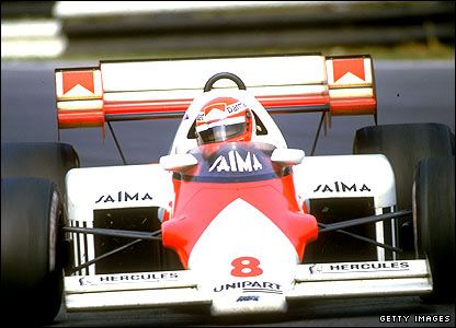 Niki Lauda in action for McLaren in 1984