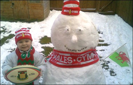 Catrin from Clydach, Abergavenny, gets set for the Six Nations