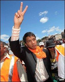 Antananarivo's young mayor Andry Rajoelina