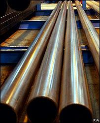 Industria de tubos de acero. (Foto de archivo)
