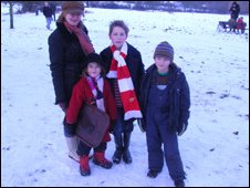 Natasha Rollason with her children (from left) Jessica, Theo and Jonah
