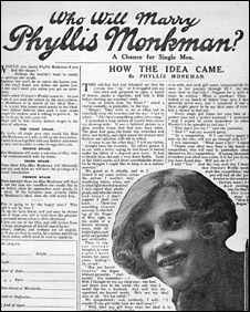 Advertisement for Phyllis Monkman from Pearson's Weekly, 1916