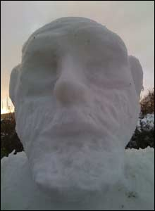 Darwin the snowman. Photo: Richard Uridge