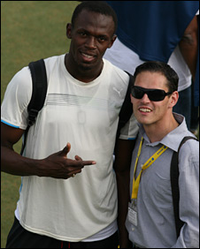 Usain Bolt and Ricky Simms