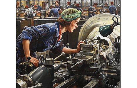 Dame Laura Knight, Ruby Loftus screwing a breech ring, 1943