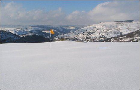 The first hole at Rhondda Golf Club - photo by Ian Ellis.