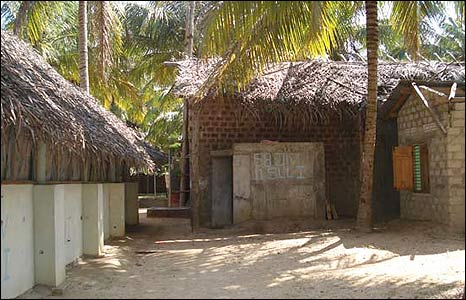 Bunker which the army says belongs to the Tamil Tiger leader
