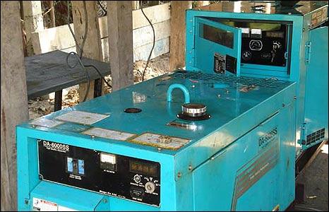 Generator at the captured bunker