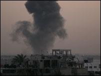 رفح اثر الغارات الاسرائيلية