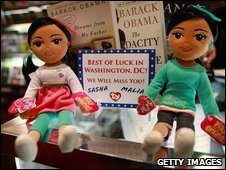 Marvelous Malia and Sweet Sasha dolls on sale in Chicago in January