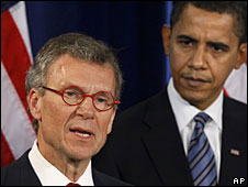 Tom Daschle and Barack Obama