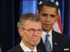 Tom Daschle and President Barack Obama