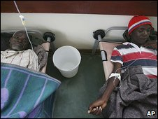 Cholera patients in Harare