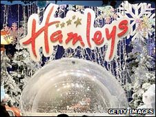 Hamleys' window