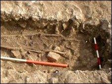Saxon grave