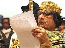 Col Gaddafi in Addis Ababa (02,02,09)