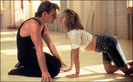 Patrick Swayze and Jennifer Grey in the classic, Dirty Dancing