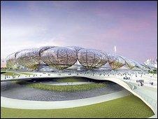 Artist's impression of the Olympic Stadium