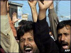 Jamaat-ud-Dawa supporters in Muzaffarabad
