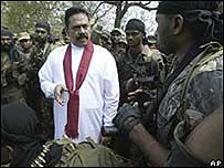 Mahinda Rajapaksa, presidente de Sri Lanka