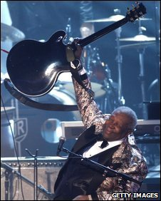 BB King at the Grammy Nominations Concert in December