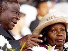 Kenya's first couple, Mwai and Lucy Kibaki