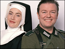 Kate Winslet and Ricky Gervais