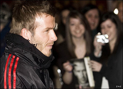 David Beckham at Glasgow Airport