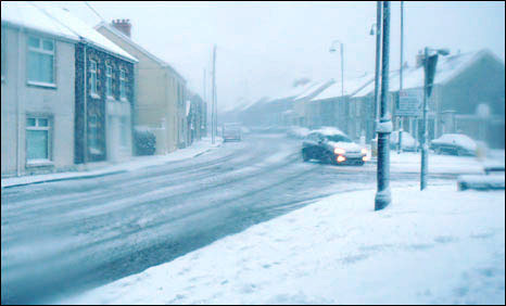Ammanford in the snow