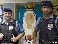 Police in Santa Marta
