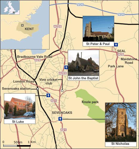 Churches in Sevenoaks