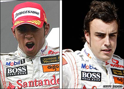 Lewis Hamilton and Fernando Alonso have mixed feelings at the 2007 Hungarian Grand Prix