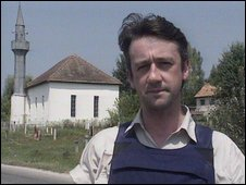 Allan Little reporting from Sarajevo in 1992